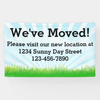 We've Moved Business Moving Sign Banner