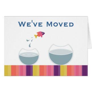 We've Moved Card