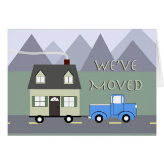We've Moved Greeting Card