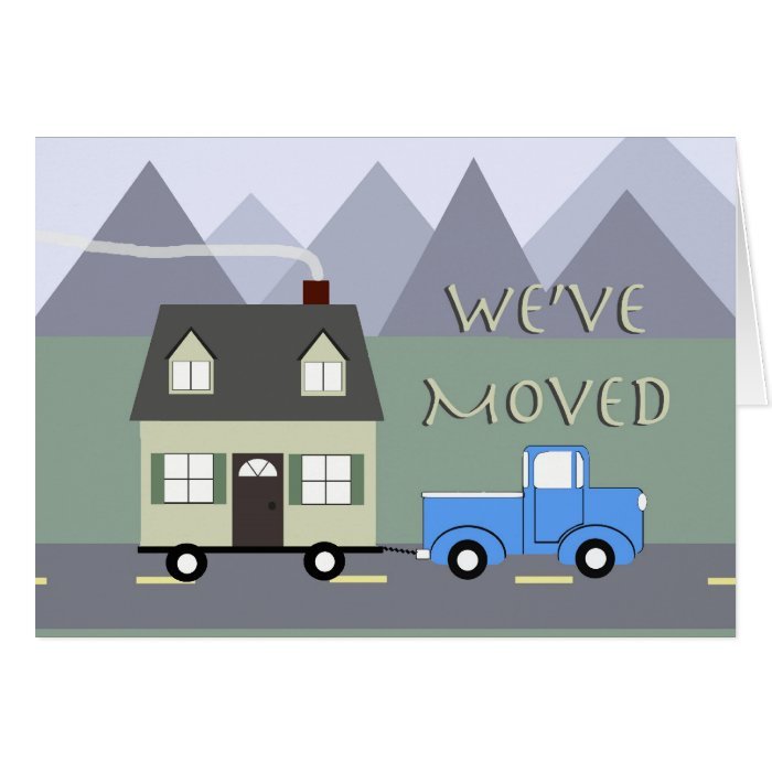 We've Moved Card