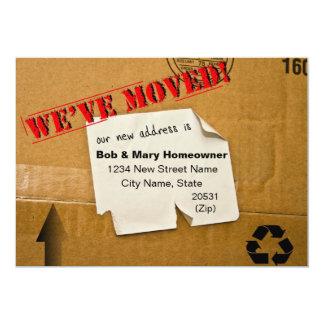 WE'VE MOVED - CARDBOARD BOX NOTICE 5X7 PAPER INVITATION CARD