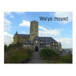 We've moved - castle motive cards post card