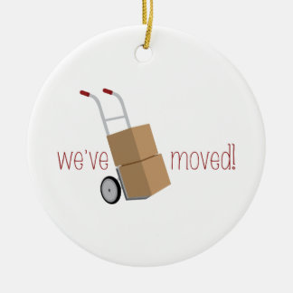 We've Moved! Ceramic Ornament