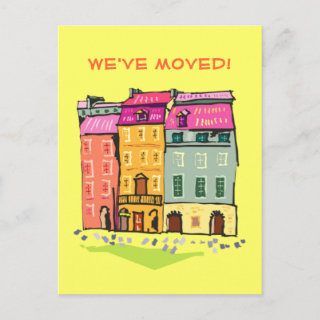 We've Moved Change of Address New Home Postcard