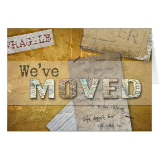 """""""We've Moved"""" change of address notecard Greeting Cards"""