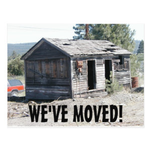 We've Moved Change Of Address Postcard