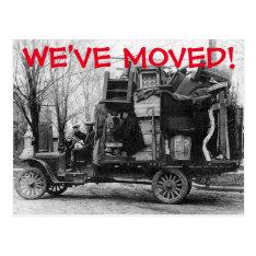 We've Moved Change Of Address Postcard at Zazzle