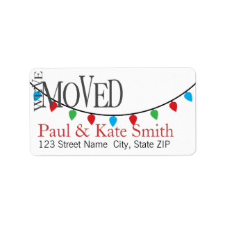 We've Moved! Christmas Edition Address Labels