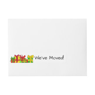 We've Moved Christmas gifts  Christmas label