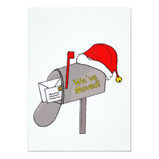 We've Moved Christmas mailbox Card