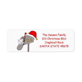 We've Moved Christmas mailbox Label