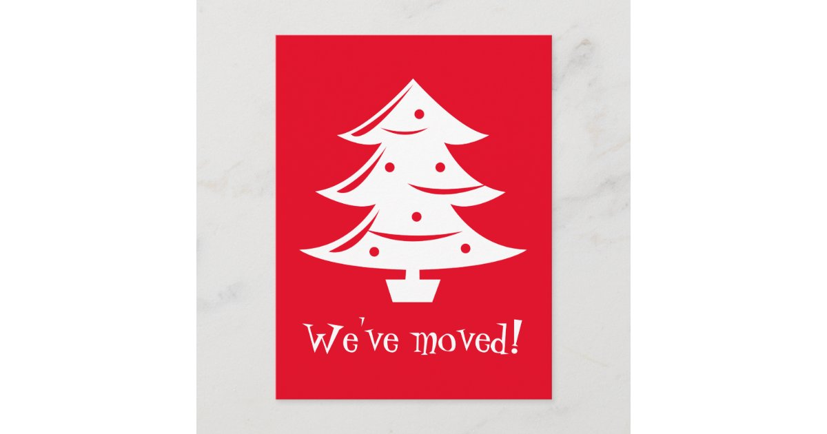 Christmas Postcards.We Ve Moved Christmas Postcards For New Address Zazzle Com
