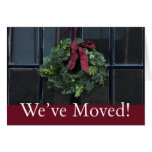 We've Moved - Christmas wreath new address Card