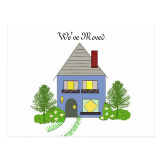 We've Moved Cozy House Postcard