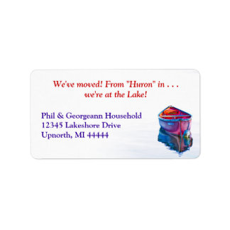 We've moved! Custom Red Canoe Address Label