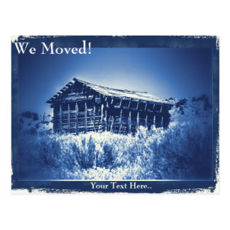 We've Moved!  Desert Barn Vintage Photo Postcard