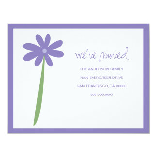 We've Moved Flower Announcement (Purple)