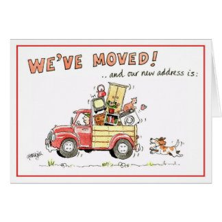 We've moved greeting card - and our new address is