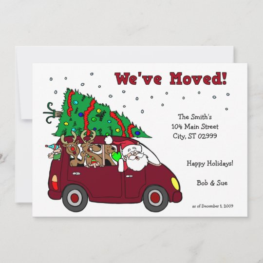 we ve moved holiday cards 5x7 cards zazzle com