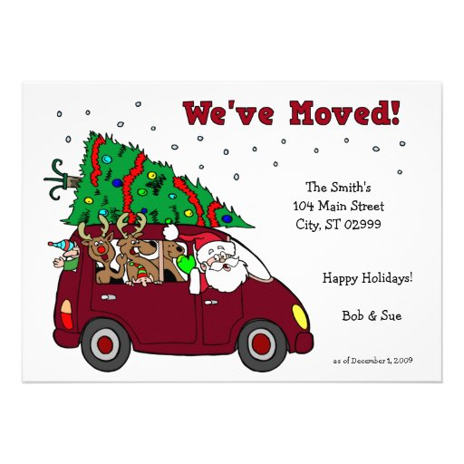 Weu0026#39;ve Moved Holiday Cards - 5x7 cards Invitations