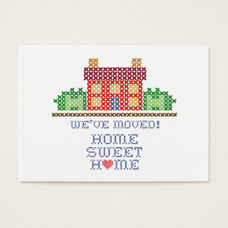 We've Moved! Home Sweet Home Business Card