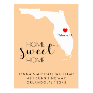 We've Moved | Home Sweet Home Florida Postcard