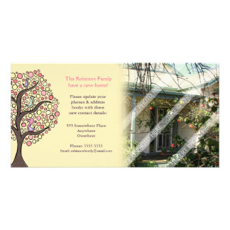 We've moved house home notification Photo Card