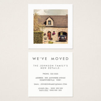 We've Moved House New Address Square Business Card