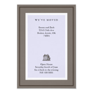 We've Moved 3.5x5 Paper Invitation Card