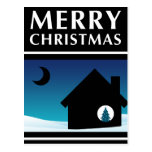 we've moved merry christmas announcement post card