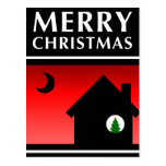 we've moved merry christmas announcement postcard