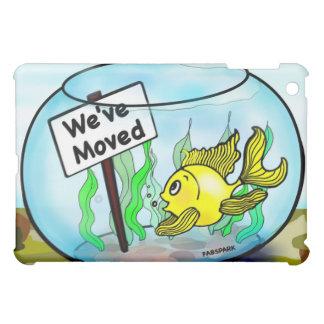 We've Moved Military goldfish fish tank cartoon Case For The iPad Mini