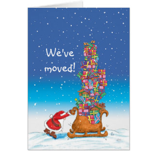 We've moved - Moving Announcement for the Holidays Greeting Card