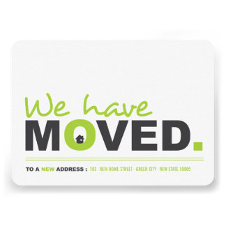We've Moved Moving Announcement Housewarming Party