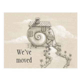 We've moved new address snail house Postcard