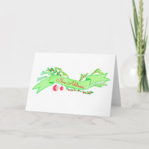 We've Moved/New Address , watercolor Christmas Holiday Card