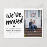 We've Moved New Change of Address Photo Moving Announcement Postcard