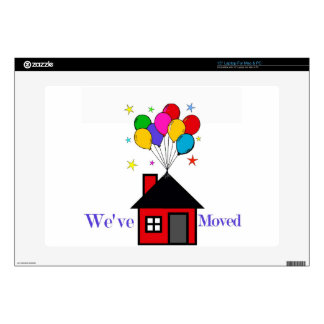 """We've Moved New Home 15"""" Laptop Decal"""