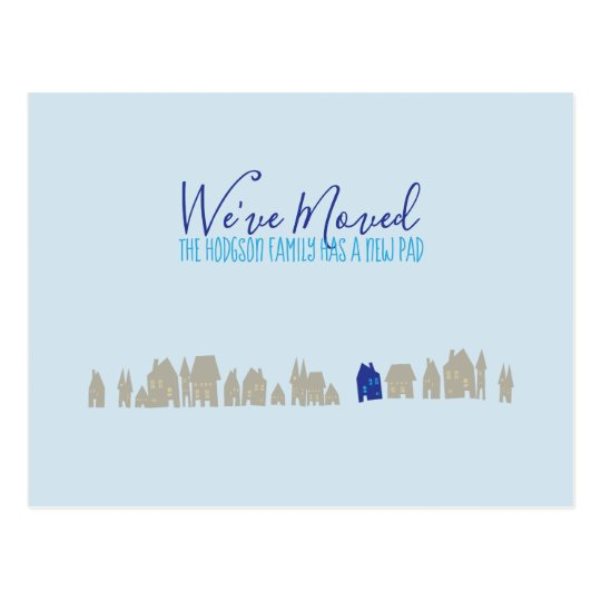 We Ve Moved New Home Announcement Postcard Zazzle Com