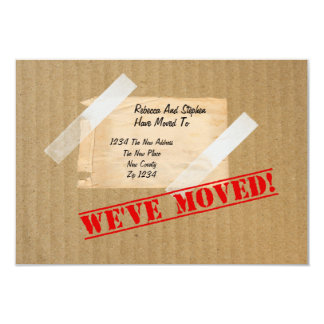 We've Moved New Home CardBoard Box 3.5x5 Paper Invitation Card