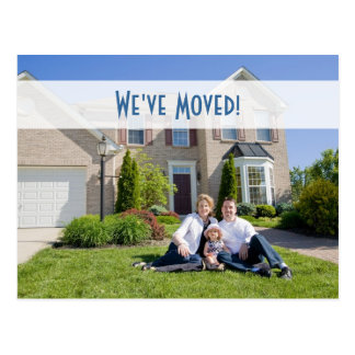 We've Moved! New Home Photo Postcard