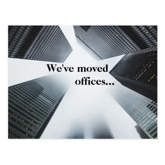 We've Moved Offices Custom Business Address Change Postcard