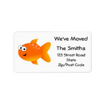We've Moved, Orange Goldfish Label