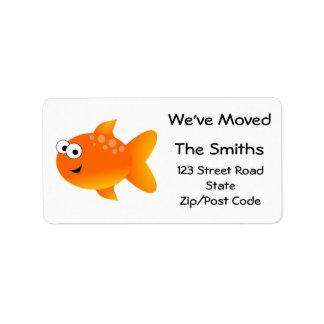 We've Moved, Orange Goldfish Label