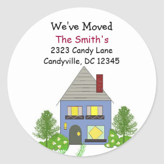 We've Moved Our Home Sticker
