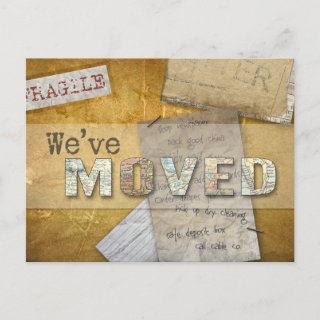 We've Moved - personalized postcard