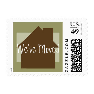 We've Moved Postage Stamps