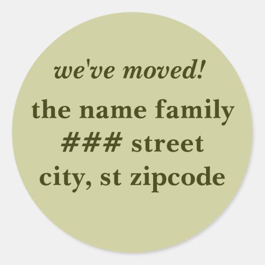 we've moved! return address labels - personalize