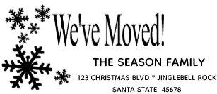 Weve Moved Return Address Rubber Stamp