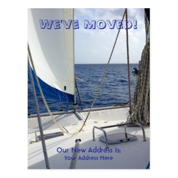 Beach Themed We've Moved Sailing Postcard
